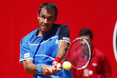 BRD Open 2013 Singles Semi-Final:Lukasz Rosol-Gilles Simon Stock Photo