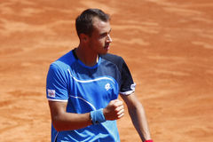 BRD Open 2013 Singles Semi-Final:Lukasz Rosol-Gilles Simon Royalty Free Stock Photo