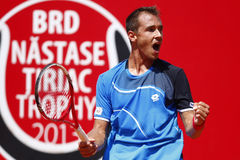 BRD Open 2013 Singles Semi-Final:Lukasz Rosol-Gilles Simon Royalty Free Stock Image