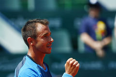 BRD Open 2013 Singles Semi-Final:Lukasz Rosol-Gilles Simon Royalty Free Stock Images