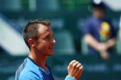 BRD Open 2013 Singles Semi-Final:Lukasz Rosol-Gilles Simon Royalty Free Stock Images