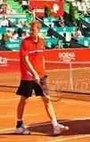 BRD Tiriac Nastase Trophy 2011. Florian Mayer (GER) vs Carlos BERLOCQ (ARG) , BNR Arena, Bucharest, 22 sept 2011.Final Score: 6-2, 0-6, 6-4 stock images