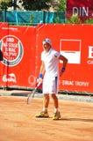 BRD Tiriac Nastase Trophy 2011. Alessandro GIANNESSI (ITA) vs Frederico GIL (POR) , BNR Arena, Bucharest, 22 sept 2011.Final Score: 7-6, 0-6, 6-3 stock image