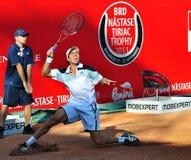BRD Tiriac Nastase Trophy 2011. Florian Mayer (GER) vs Carlos BERLOCQ (ARG) , BNR Arena, Bucharest, 22 sept 2011.Final Score: 6-2, 0-6, 6-4 stock photography