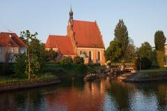 Καθεδρικός ναός και ποταμός Brda σε Bydgoszcz Στοκ Εικόνες