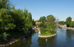 Brda river in Bydgoszcz Royalty Free Stock Image