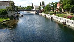 Brda river in Bydgoszcz. Royalty Free Stock Photography