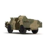 BRDM 2 amfibii sowieci - zjednoczenie na Białym tle Zdjęcia Royalty Free