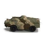 BRDM 2 amfibii sowieci - zjednoczenie na Białym tle Fotografia Stock