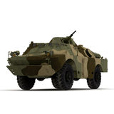 BRDM 2 Amphibious Vehicle  on White Background Royalty Free Stock Photography