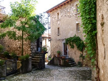 Bre. Lugano - Shots of the ancient inland Stock Photos