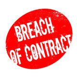 Breach Of Contract rubber stamp. Grunge design with dust scratches. Effects can be easily removed for a clean, crisp look. Color is easily changed Stock Photos