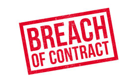 Breach Of Contract rubber stamp. Grunge design with dust scratches. Effects can be easily removed for a clean, crisp look. Color is easily changed Royalty Free Stock Photography
