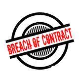 Breach Of Contract rubber stamp. Grunge design with dust scratches. Effects can be easily removed for a clean, crisp look. Color is easily changed Stock Photography