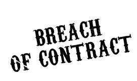 Breach Of Contract rubber stamp. Grunge design with dust scratches. Effects can be easily removed for a clean, crisp look. Color is easily changed Royalty Free Stock Images