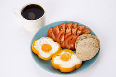Breackfast with eggs Stock Photo