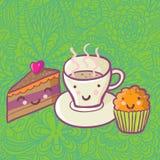 Breackfast ideal dos desenhos animados Imagem de Stock
