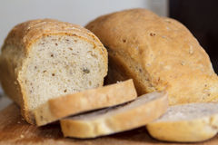 Bread 1. Romanian homemade bread with seeds Royalty Free Stock Photography