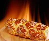 Bread. Baked in the oven with a wood fire to the bottom Stock Image