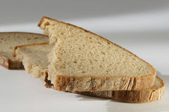 Bread. You see slices of bread Royalty Free Stock Photos