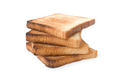 Bread. Four slices of bread on a white background Stock Photo