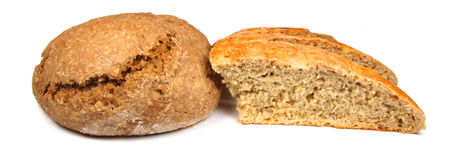 Bread. Macro photo of bread isolated on white stock photo
