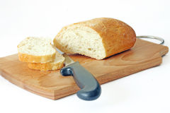 The bread. On the kitchen board Royalty Free Stock Photo