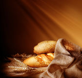 Bread. Beautiful Image of Fresh Baked Bread with copy space stock illustration