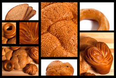 Bread. Collage with different sorts of bread Stock Image