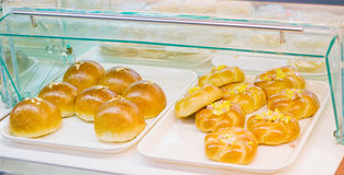 Bread. Store counter selling chinese style bread Stock Photo