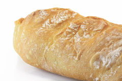 Bread. Home made white bread on white board Royalty Free Stock Image