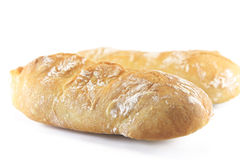 Bread. Home made white bread on white board Royalty Free Stock Photos