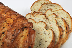 Bread. The cutted bread on white background Stock Images