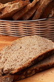 Bread. Baked bread on wood table Royalty Free Stock Photos