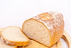 Bread. Isolated on a white background royalty free stock image