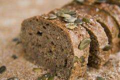 Bread. Sliced dark bread for breakfast Royalty Free Stock Photography