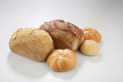 Bread. Group of bread on a white surface Royalty Free Stock Image