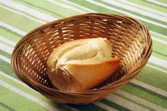 Bread. One bread in small tray Royalty Free Stock Image