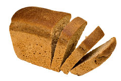 Bread. Cut bread, isolated on white, clipping path included Royalty Free Stock Image