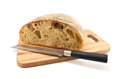 Bread. Half bread isolated on white Royalty Free Stock Photo