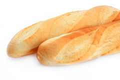 Bread. White bread on a white background Stock Photo