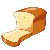 Bread. Colored illustration of the bread on white background Stock Image