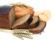 Bread. Wheat bread in the sacking of spike Royalty Free Stock Image