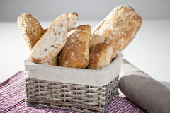 Bread. Freash bread in a basket on a table Stock Photography
