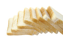 Bread. Toast bread isolated on white background. Sliced bread Stock Images
