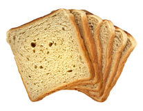 The bread. The cut bread which has been laid out by a fan royalty free stock image