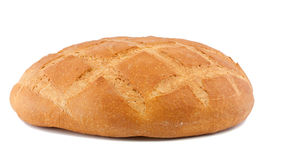 Bread. The whole loaf of round bread Stock Photos