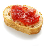 Bread. French bread with strawberry jam Royalty Free Stock Photography