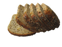 Bread #2. Pure white background royalty free stock image
