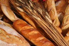 Bread 2. Close up of different kinds of breads stock image